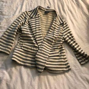 Grey and off white blazer